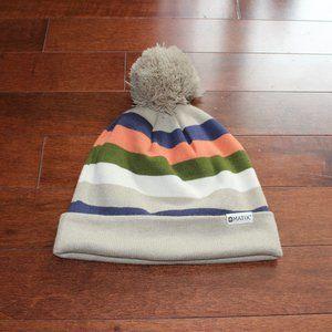 Cozy Striped Pom Bonnet